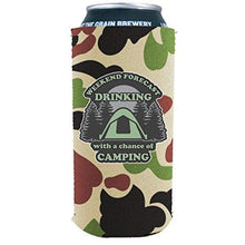 Load image into Gallery viewer, Weekend Forecast Drinking with a chance of Camping 16 oz. Can Coolie
