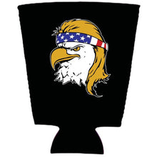 Load image into Gallery viewer, Bald Eagle Mullet Neoprene Pint Glass Coolie