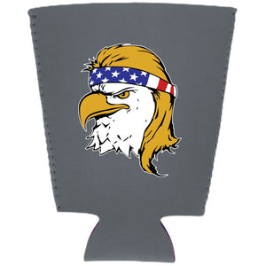 Bald Eagle Mullet Neoprene Pint Glass Coolie
