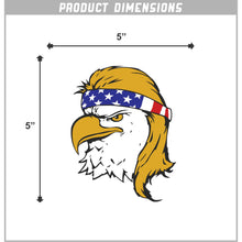 Load image into Gallery viewer, Bald Eagle Mullet Vinyl Sticker 5 Inch, Indoor/Outdoor