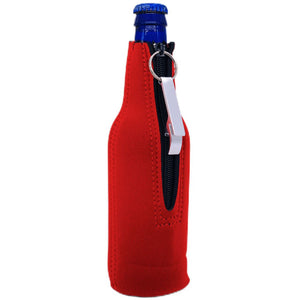 You Won't Beer Bottle Coolie with Opener Attached