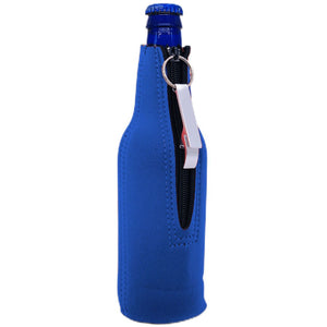 Blacked Out Beer Bottle Coolie With Opener