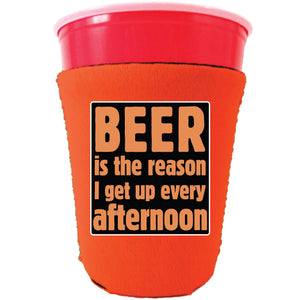 Beer is the Reason Party Cup Coolie