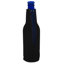 Load image into Gallery viewer, America Peace Sign Beer Bottle Coolie With Opener