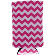 Load image into Gallery viewer, Chevron Stripe Pink 16 oz Can Coolie