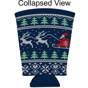 Christmas Sweater Pint Glass Coolie