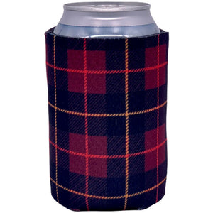 can koozie with flannel pattern design buffalo check