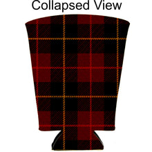 Load image into Gallery viewer, Flannel Plaid Pattern Pint Glass Coolie
