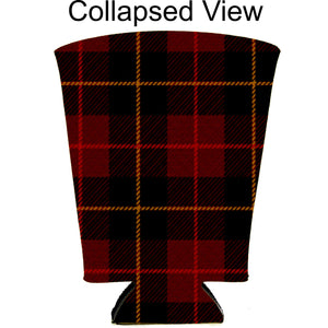 Flannel Plaid Pattern Pint Glass Coolie