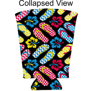Flip Flop Pattern Pint Glass Coolie
