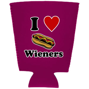 I Lover Wieners Pint Glass Coolie