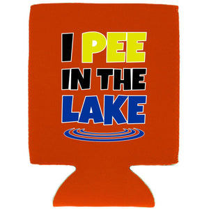 I Pee In The Lake Magnetic Can Coolie