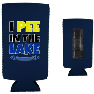 I Pee In The Lake Magnetic Slim Can Coolie