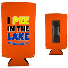 Load image into Gallery viewer, I Pee In The Lake Magnetic Slim Can Coolie