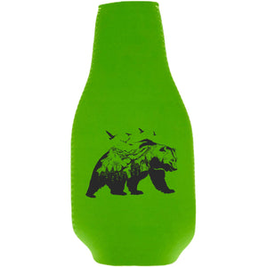 Mountain Bear Beer Bottle Coolie