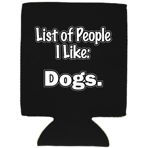 List of People I Like Dogs Magnetic Can Coolie