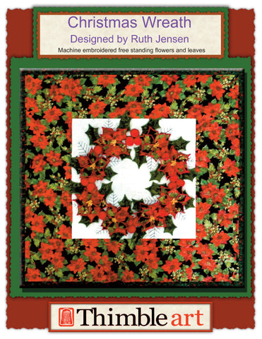 Christmas Wreath Machine Embroidery