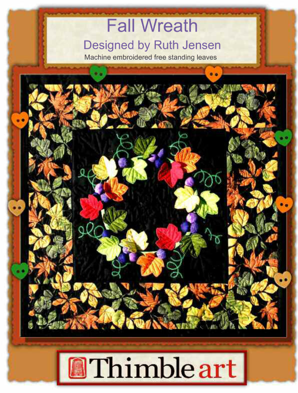 Fall Wreath Machine Embroidery