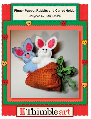Finger Puppet Rabbits and Carrot Holder