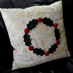 Christmas Holly Pillow Cover
