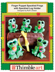 Finger Puppet Speckled Frogs with Speckled Log Holder