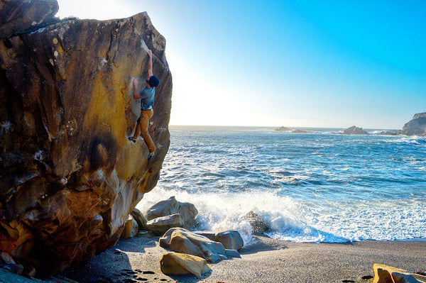HIMALI™  athlete Connor Griffith Beach Bouldering California