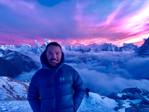 Tendi Sherpa in an Altitude Parka by HIMALI on his way to summit Mt. Everest