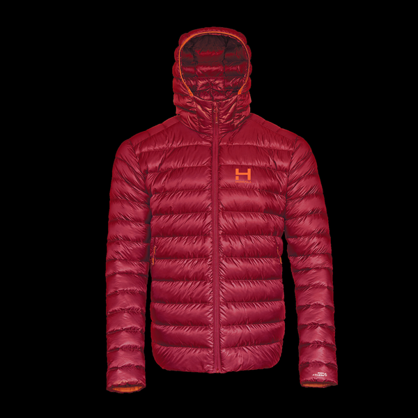 The Altocumulus Down Jacket 2.0 Men's Hooded - Monk Red