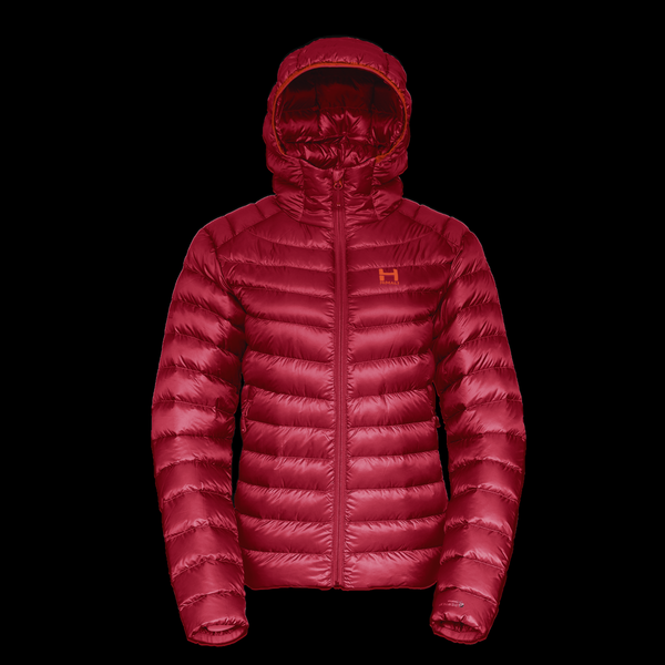 The Altocumulus Down Jacket 2.0 Hooded - Womens - Monk Red