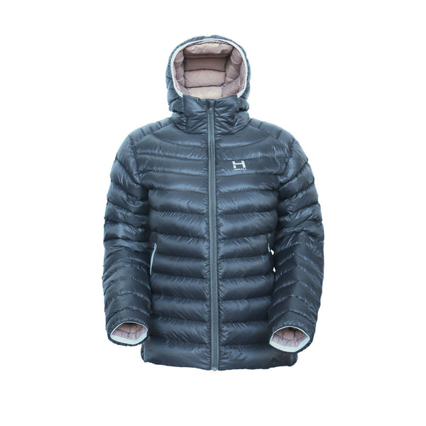 The Altocumulus Down™ Jacket Womens - Hooded - Blue Ice