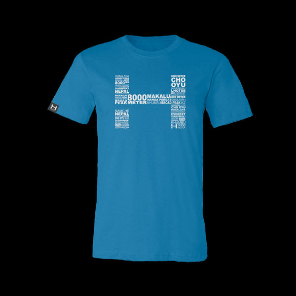Mens HIMALI™ Tech Tee Tshirt 8000 Meter - Far Blue