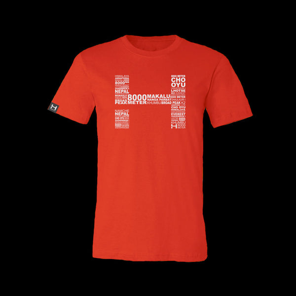 Mens HIMALI™ Tech Tee Tshirt 8000 Meter - Lava Red