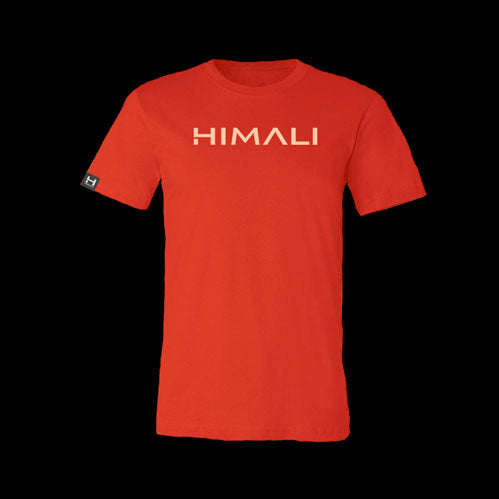 Mens HIMALI™ Logo Tech Tee Tshirt - Lava Red