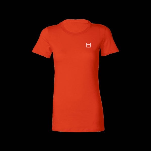 Womens HIMALI™ Logo Tech Tee Tshirt - Lava Red