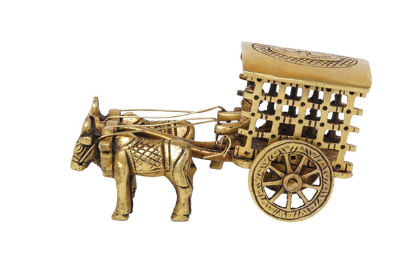 Brass Bullock cart Brass Vintage Bullock Cart Decor Showpiece