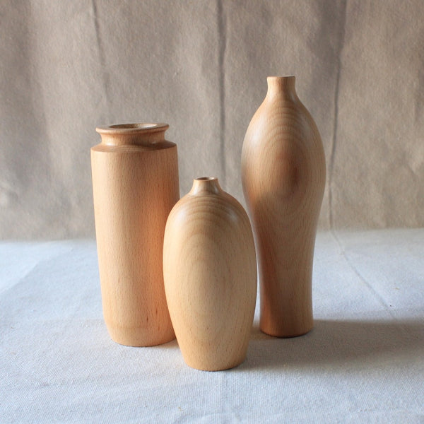Handmade solid wood vase
