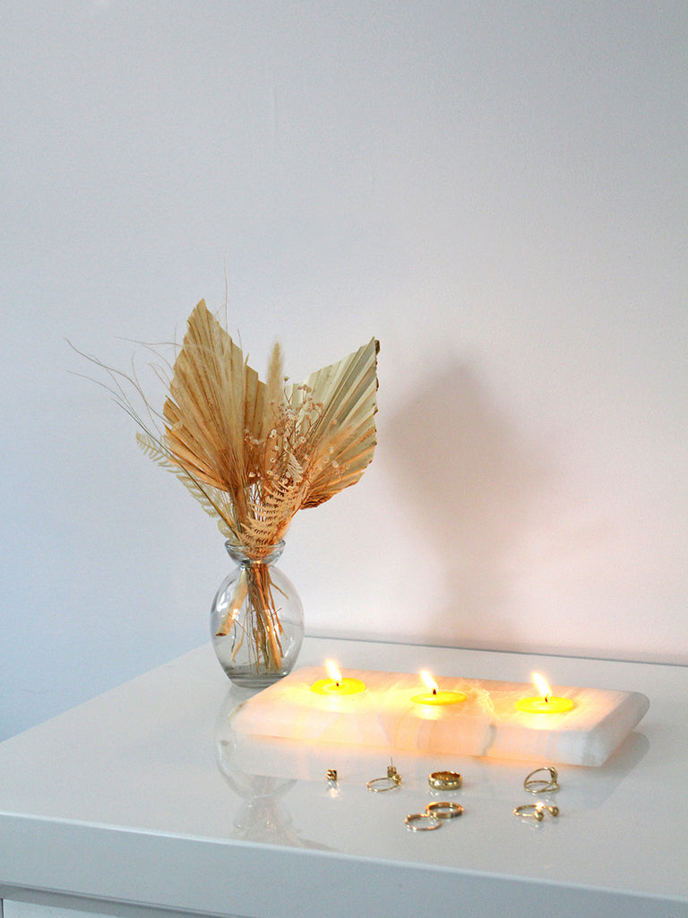 Selenite Candle Tray