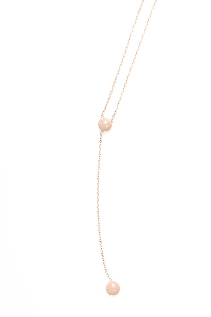 Double Dot Lariat Neck Chain