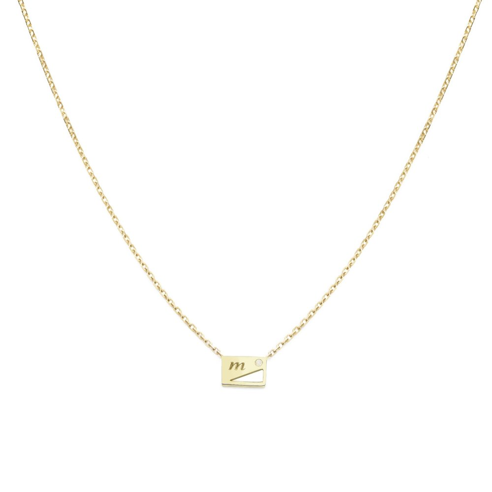 Tag You're It Initial Neck Chain