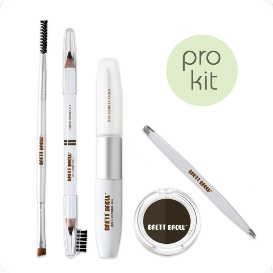Brett Brow Duo-Shade Kit (Dark Brunette)