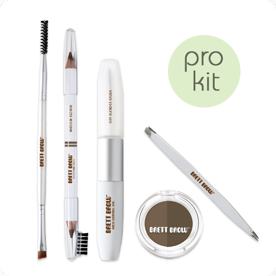 Brett Brow Duo-Shade Kit (Medium Blonde)
