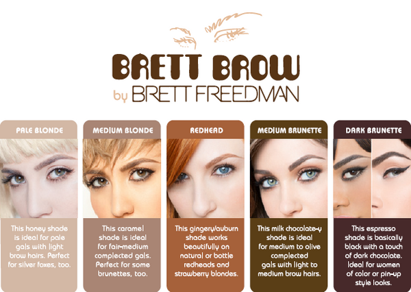 Brett Brow Duo-Shade Powder (Dark Brunette)