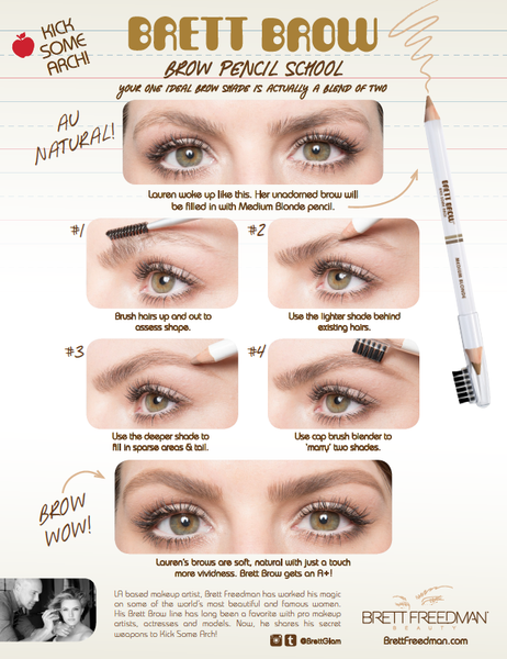 Brett Brow Duo-Shade Pencil (Dark Brunette)