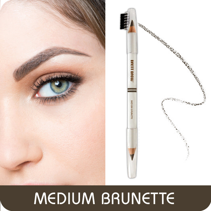 Brett Brow Duo-Shade Pencil (Medium Brunette)