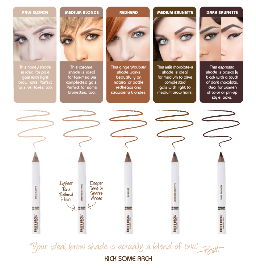 Brett Brow Duo Shade Pencil Medium Blonde