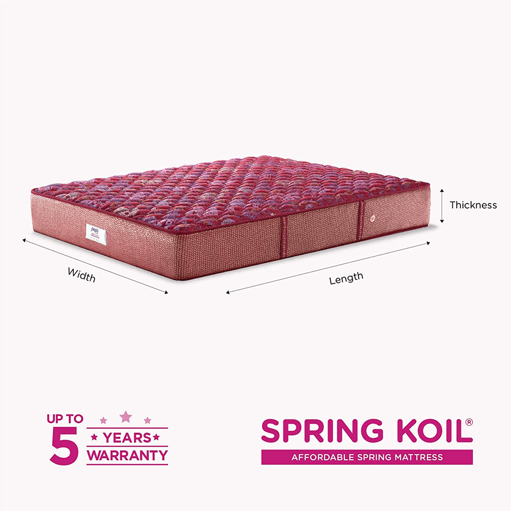 Peps Springkoil Bonnell 6-inch Spring Mattress with Free Pillow