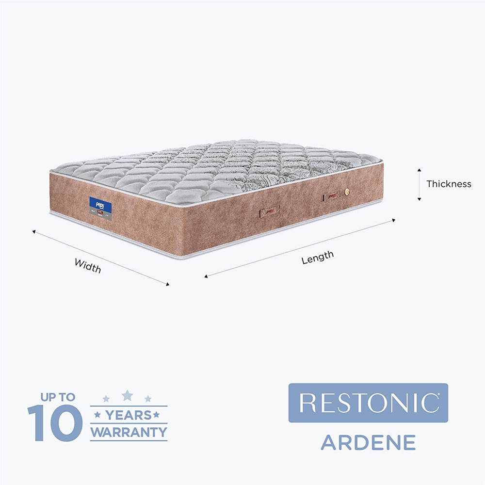 Peps Restonic Ardene 8 inch Pocketed Spring Mattress With Free Pillow