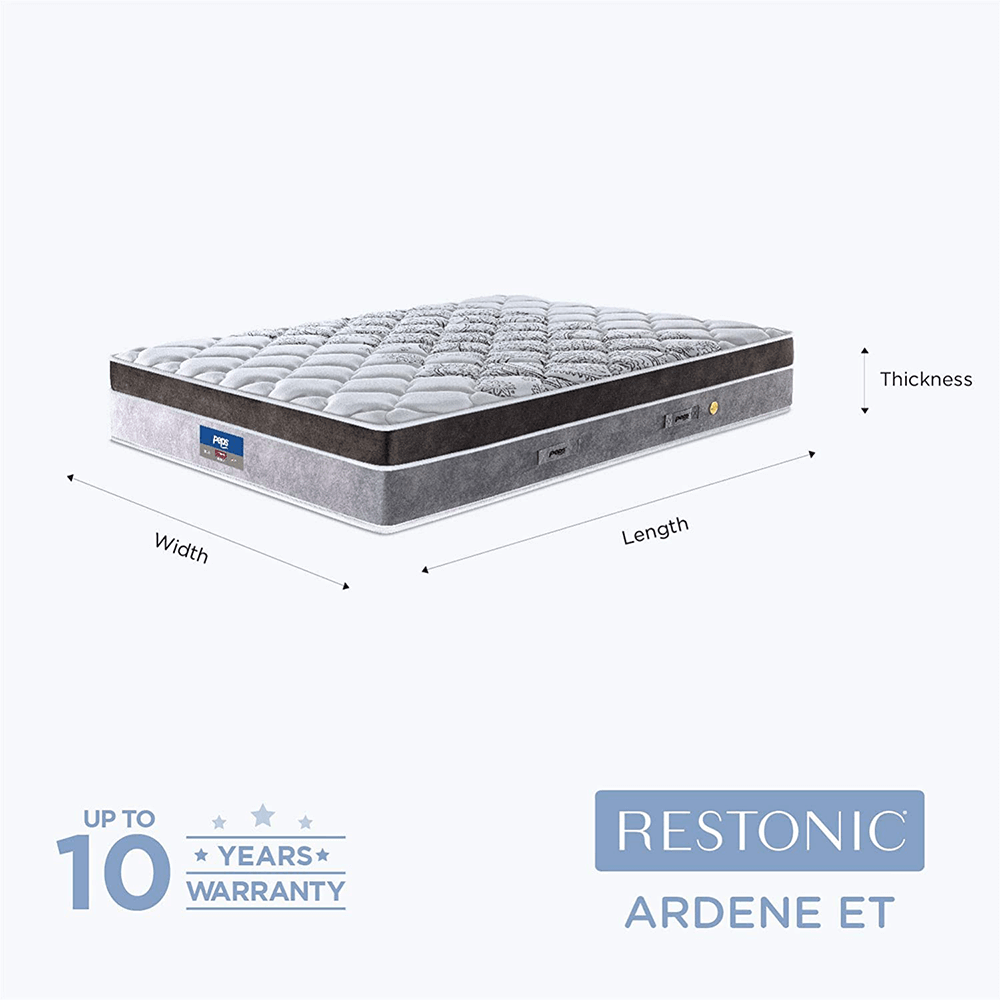 Peps Restonic Ardene Euro Top 8 inch Pocketed Spring Mattress With Free Pillow