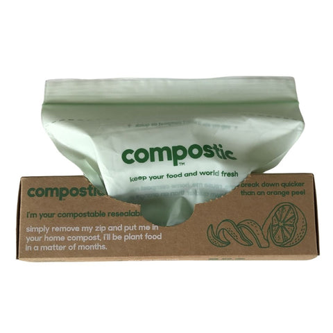 Compostable snack bags with zip lock