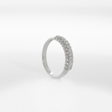 Load image into Gallery viewer, Mor Luxe Slender Pave Anniversary Band